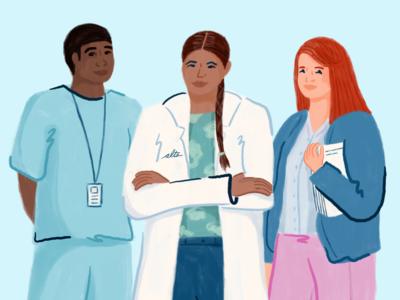 Alto Care Team man design human nurse pharmaceutical character woman person people illustration illustrator procreate care pharmacy alto