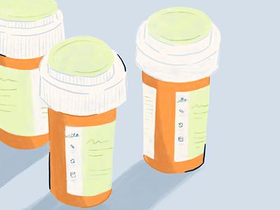 Alto Medications medicine prescribe product illustrator illustration procreate medical medical care bottls pills pill medication pharmacy alto