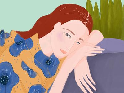 Floral floral pattern illustration design draw flowers floral girl women woman procreate illustrator illustration