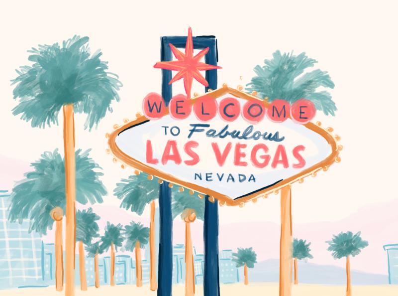Las Vegas city las vegas vegas pharmacy alto illustrator procreate illustration