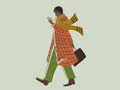 Plaid plaid man human procreate character illustration illustrator