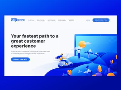 UserTesting Homepage Rebrand