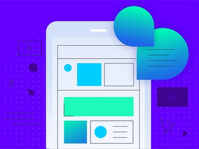 Live Conversation Mobile product app gradient conversation chat illustration mobile