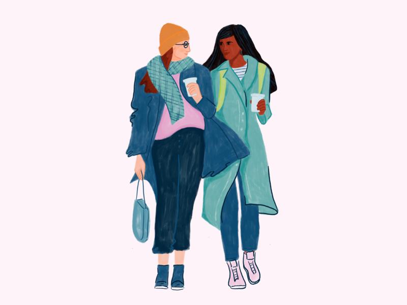 A partner on your fertility journey procreate app character alto pharmacy fertility woman people illustration procreate