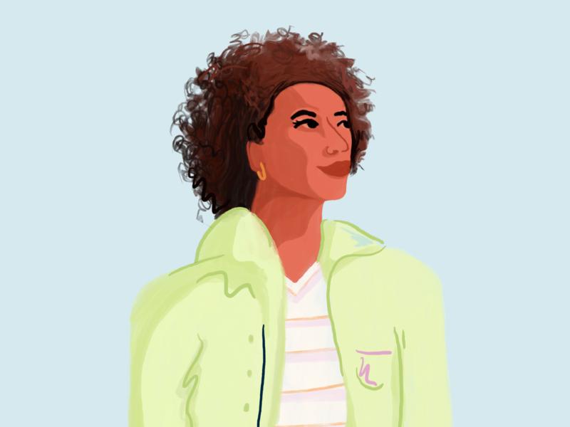 Dermatology design pharmacy alto dermatology woman illustration procreate art procreate