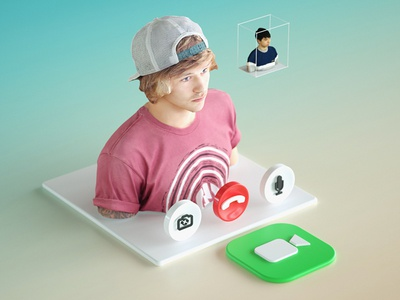 Daily Render: Dimensional UI