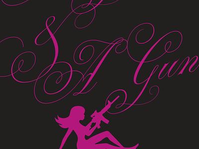A Girl & A Gun girl gun rifle script woman pink