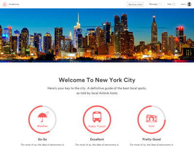 Airbnb Guidebooks Concept