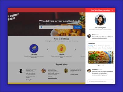 Web Chat/Customer Service Interface