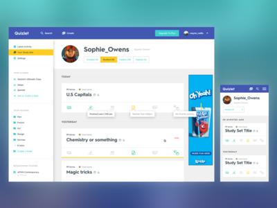Quizlet Redesign - Profiles