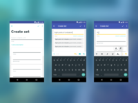 Quizlet - Android - Set Creation