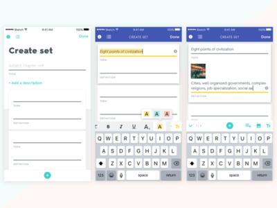 Quizlet - iOS - Set Creation