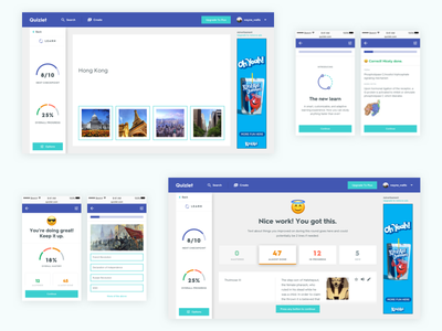 Quizlet Web - Introducing the New Learn interactive study learning responsive mobile web education