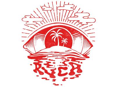 RVCA ISLAND branding typography illustration design