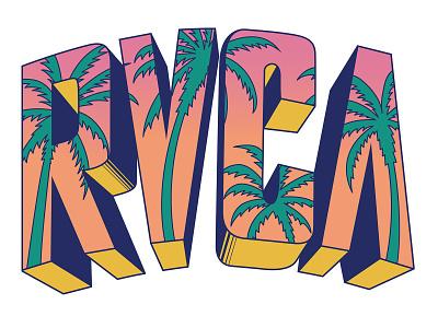 RVCA PALMS branding typography illustration design