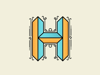 H type lettering typography