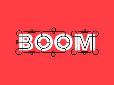 Boom! hustling type lettering typography