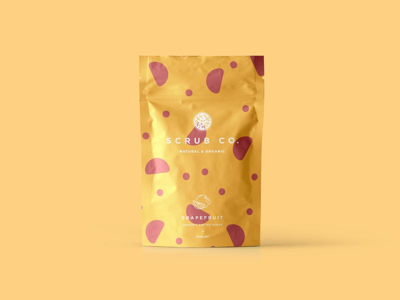 Scrub Co Packaging – Grapefruit pattern packaging design packaging coffee branding brand and identity