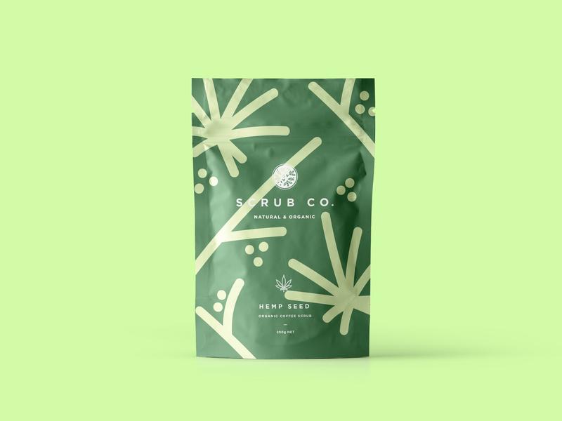 Scrub Co Packaging – Hemp Seed hemp packagingdesign packaging pattern design coffee branding brand and identity