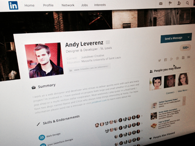 LinkedIn Case Study case study redesign ui ux web mobile