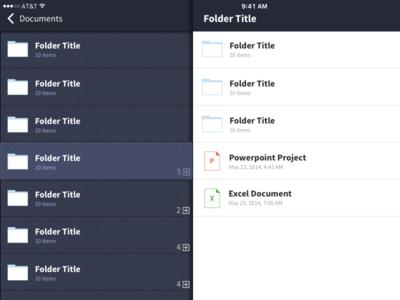 File Listing iPad