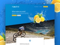 Product Landing Page Design - H2OH Drink