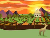 Cannabis Farm Illustration