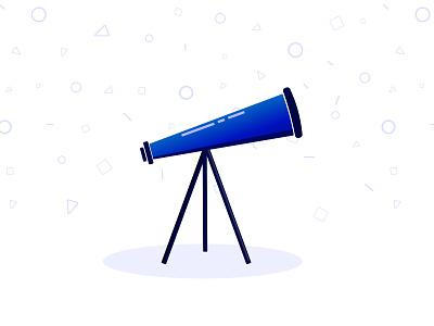 Telescope affinity designer vector pattern blue illustration