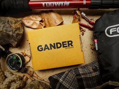 Gander Outdoors Logo Concept logo design logo one color clean gotham compass navigation outdoors gander outdoors gander