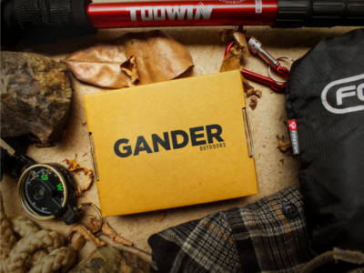 Gander Outdoors Logo Concept logo design logo one color clean gotham compass navigation outdoors gander outdoors gander