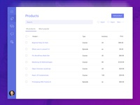 E-Commerce Product Dashboard Concept