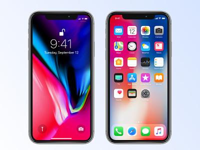 iPhone X Mockup - Affinity Designer freebie apple mockup iphone x affinity designer