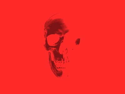 Skull photoshop dark etch skull red