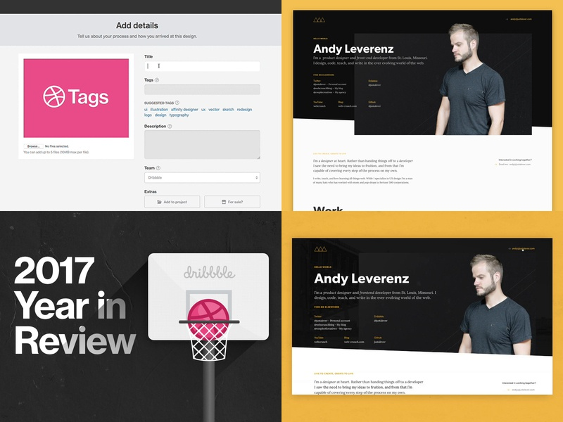 2018 Top 4 dribbble design 2018 top4