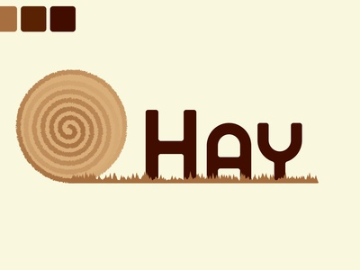Hay branding logo graphic design ui