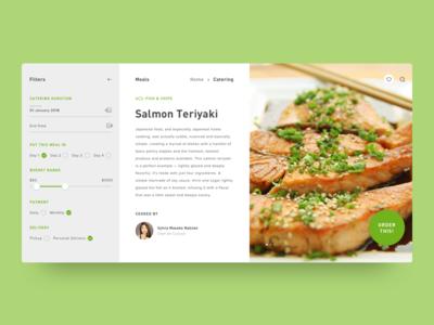 Meals 101 food web ux ui simple singlepage section minimal layout clean