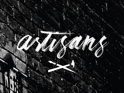 Artisans - Round 2 virginia beach parks and recreation artisans typography graphic design photography logotype logo handlettering brush lettering texture