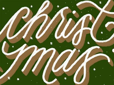 Christmas Gift Card handlettering holidays season christmas gift card holiday