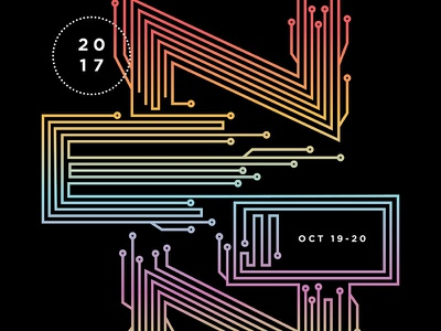 2017 NEON Poster vector typography art festival festival circuits illustration electric neon