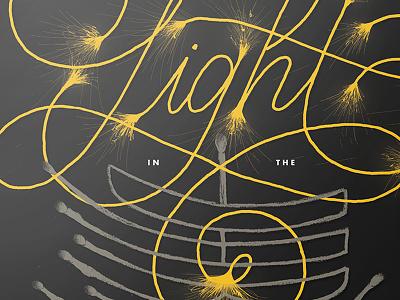 Spark Poster dark light poster posterdesign typography calligraphy handlettering