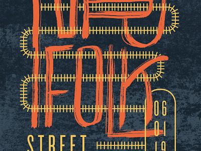 Norfolk Street Museum brush lettering hand lettering event poster festival poster mural festival mural
