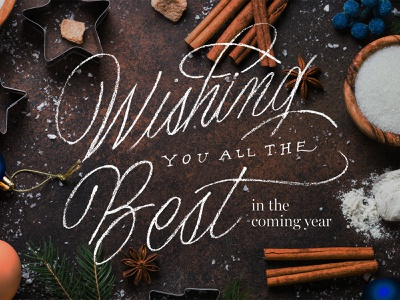 Holiday Lettering 2019 holiday design festive holidays christmas hand lettered hand drawn script lettering handlettering typography holiday card