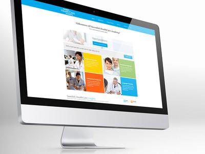 Swedish HealthCare Academy website homepage healthcare sweden responsive