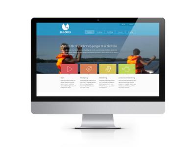Skolpåsen schoo trip webpage website responsiv