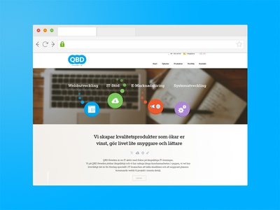QBD responsiv website webb web it tech