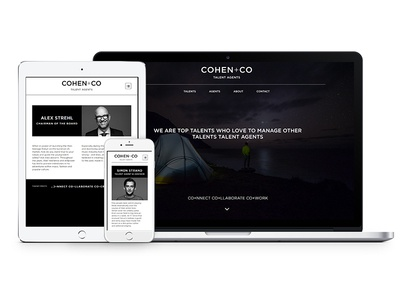 Cohen Co repsonsive design webdesign talent agency