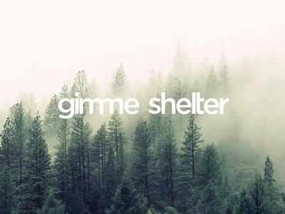 gimme shelter natur forest wood architecture vector illustrator logo logodesign