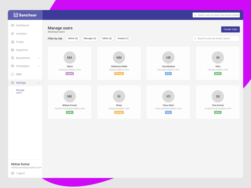 Manage Users user list user dashboad create user edit user used user account manage user users
