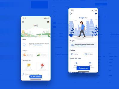 Google Pay redesign using Fintech UI Kit payment design system ui kit redesign google pay