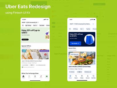 Uber Eats Redesign redesign delivery app fintech ui uber design uber